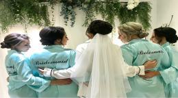 Printed Satin Bridal Robes