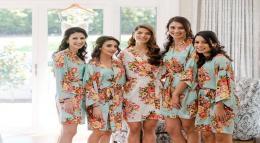 Floral Plain Satin Robes