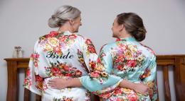 Floral Printed Bridal Robes