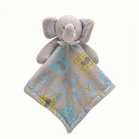 Security Blanket Blue Elephant