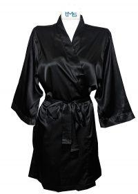 Sophia's Satin Robe Black