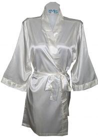 Sophia's Satin Robe Ivory