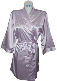 Sophia's Satin Robe Lilac