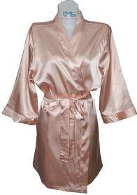 Sophia's Satin Robe Blush Pink