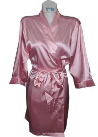 Sophia's Satin Robe Pink
