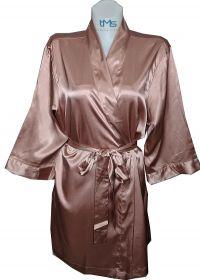 Sophia's Satin Robe Rose Gold