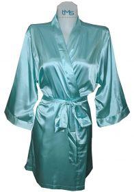 Sophia's Satin Robe Tiffany Blue
