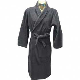 Ariana Terry Toweling Robe Charcoal S/M