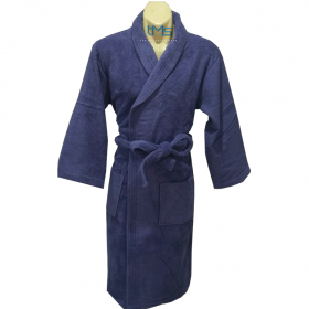 Ariana Terry Toweling Robe Navy L/XL