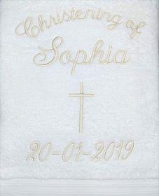 Christening Towel Template 1