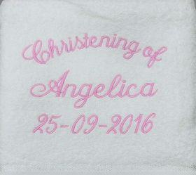 Christening Towel Template 5