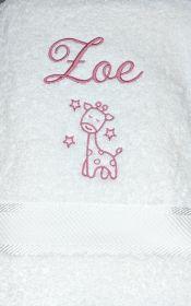Child's Giraffe Towel