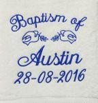 Baptism Towel Template 9