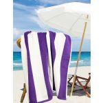 Stripes Purple/White Pool & Beach Towel