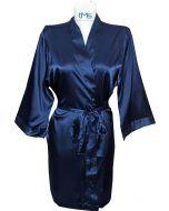 Sophia's Satin Robe Navy
