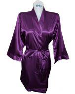 Sophia's Satin Robe Purple